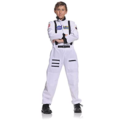 Underwraps Children's Astronaut Costume - White, Medium (6-8): Toys & Games