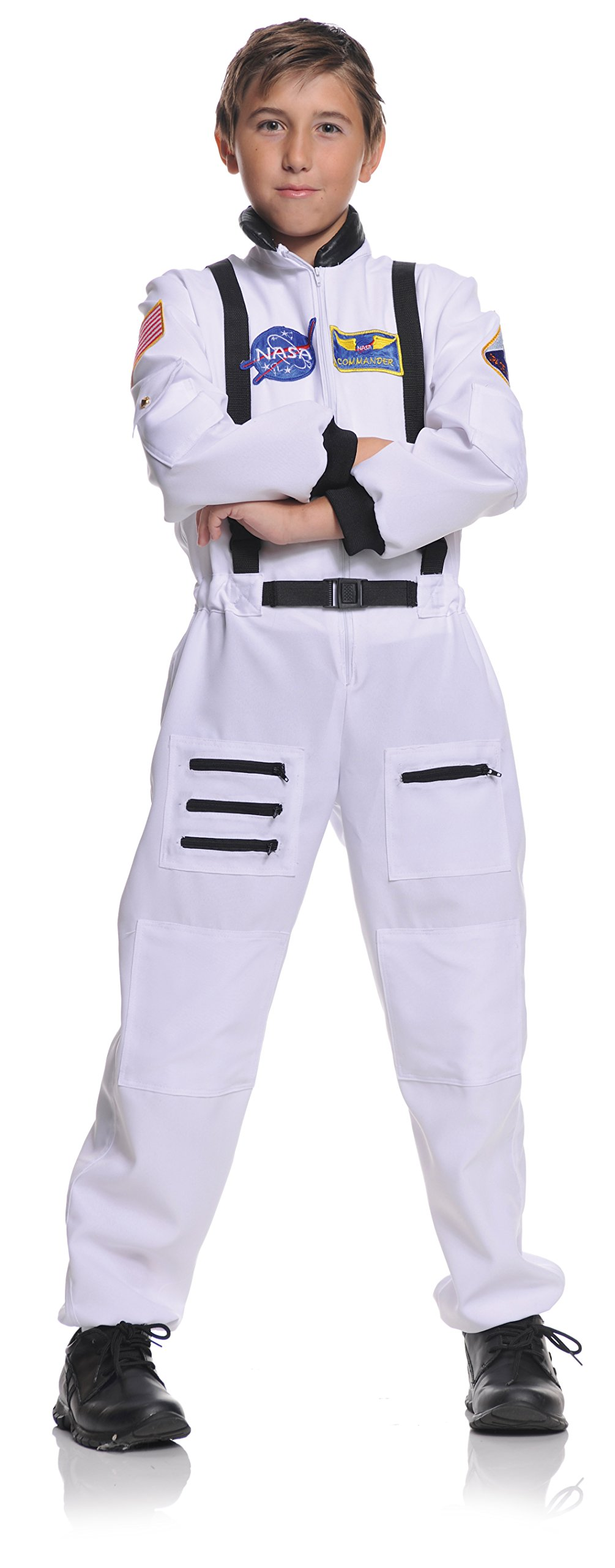 Children's Astronaut Costume - White, Large (10-12)