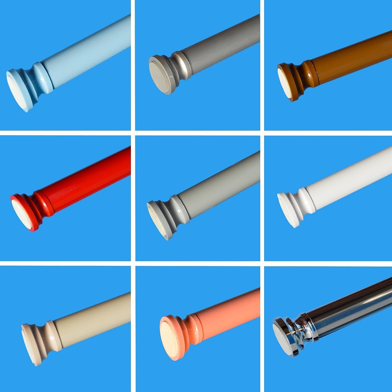Telescopic Rail 125 220cm Shower Curtain Rod Bath Extendable Pole No Tools  Required: Amazon.co.uk: Kitchen U0026 Home