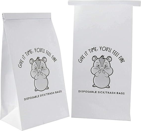Amazon.com: 50 bolsas de vómitos. Desechables resistente a ...