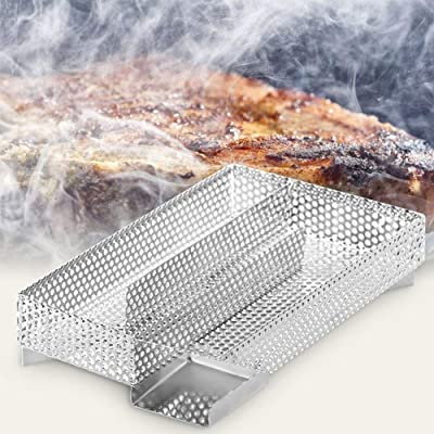 TOPINCN Stainless Steel Cold Smoke Generator, Pellet Smoker Generator BBQ Accessories 304 Stainless Steel Grill Cooking Tools 7.9X 4.9X 1.8inch : Garden & Outdoor
