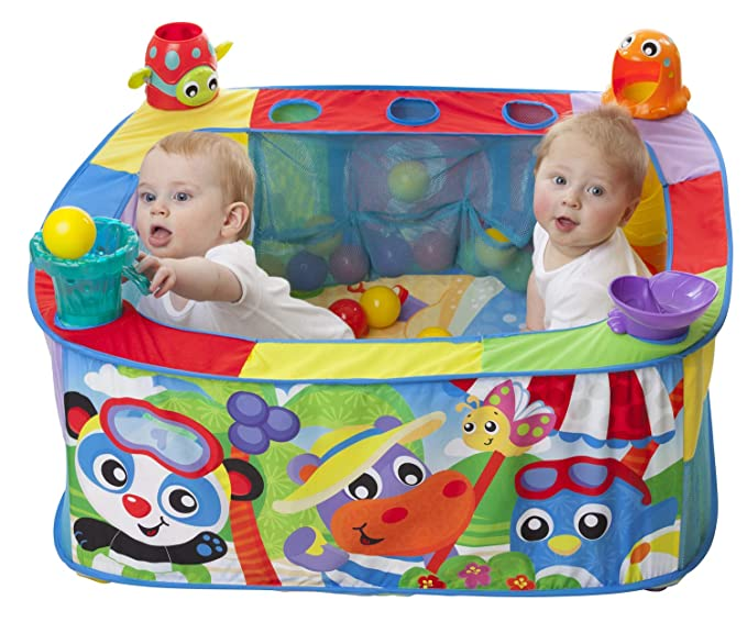 Playgro is Encouraging Imagination with STEM//STEM for a bright future Great start for a world of learning Playgro 0186366 Pop And Drop Activity Ball Gym for baby infant toddler children