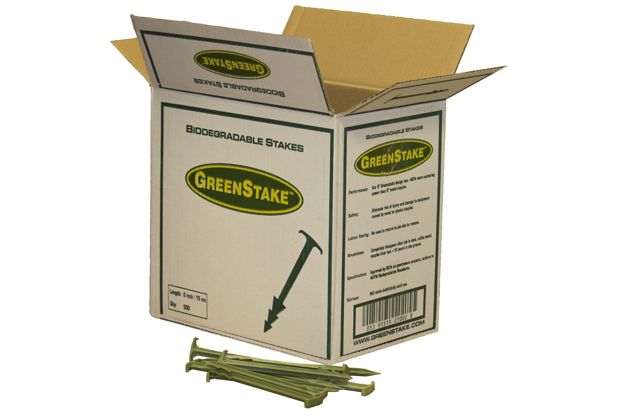GreenStake Box of 500 Biodegradable Stakes 6''