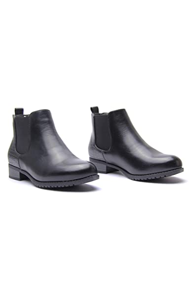 1f91bea76270d Womens Ladies Flat Chelsea Ankle Work Boots Casual Elastic Pull ON Shoes  Size UK