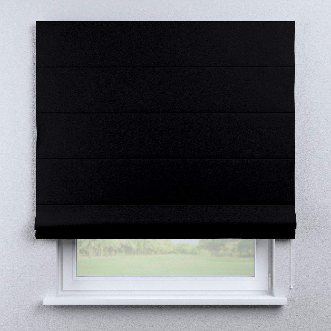 FRANC-TEXTIL 333-269-99 Verdunklungsraffrollo, schwarzout, verdunkelnd, 130 x 170 cm, schwarz