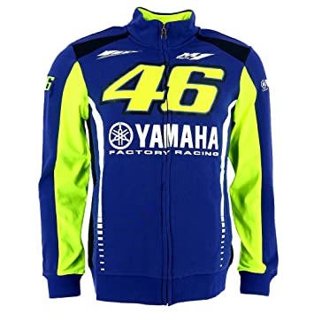 Valentino Rossi VR46 Moto GP M1 Yamaha Factory Racing Team Capucha Oficial 2017: Amazon.es: Deportes y aire libre