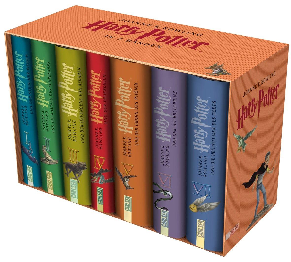 Harry Potter: 7 Bände im Schuber Gebundenes Buch – 25. September 2008 Joanne K. Rowling Klaus Fritz Carlsen 3551555532