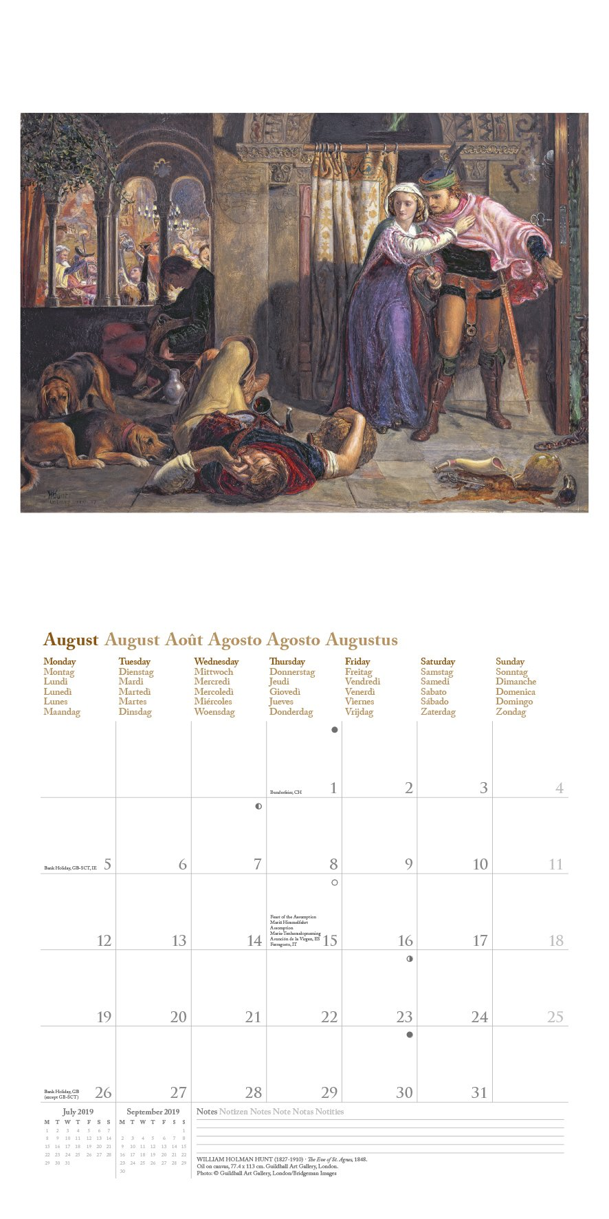 German 30 x 30 cm 2019 Monet Calender Art Calendar – 15 May 2018