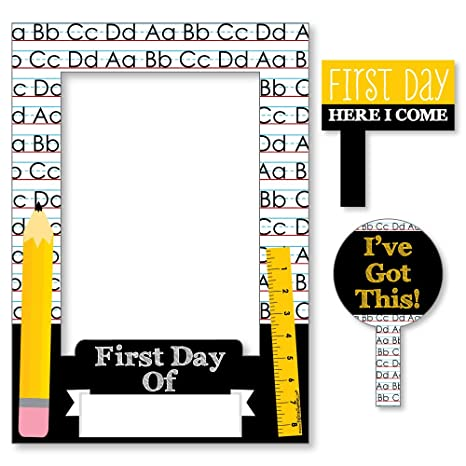 Amazon.com: Black, Yellow and White Back To School - First Day and ...