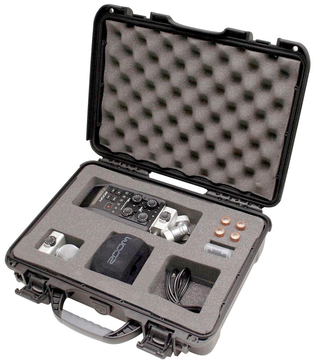 Gator Cases GU-ZOOMH6-WP Titan Series Waterproof with Custom Insert for Handheld Recorder & Accessories by Gator