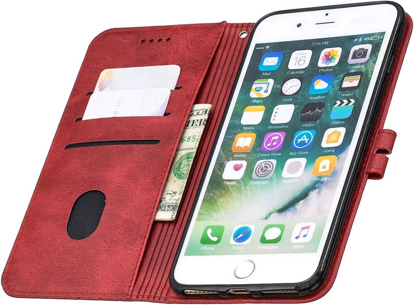 NEXCURIO Coque iPhone 6S Plus//6 Plus Cuir PU /Étui Housse Portefeuille /à Clapet avec Fonction de Support et Coque Souple pour Apple iPhone 6SPlus//6Plus NEHEX120015 Noir