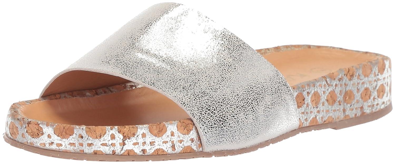 KAANAS Women's Maldives Flat Fashion Pool Slide Sandal B076FV9D68 5 B(M) US|Silver