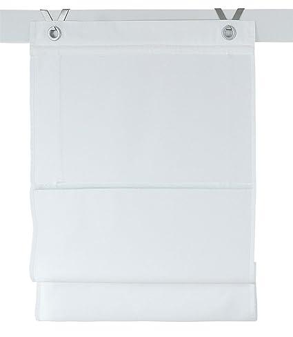 Tende A Pacchetto Misure.Rollos More Tenda A Pacchetto Kessy Colore Bianco Misure Circa 45 X 142 Cm