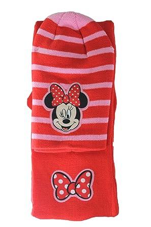 le rapport qualité prix dernière vente Style classique disney-ensemble bonnet gants écharpe minnie-rouge et rose ...