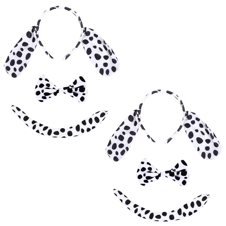 kinzd Kids Mouse Dalmatian Bunny Ears Hairbands Party Halloween Christmas Costume Dalmatian