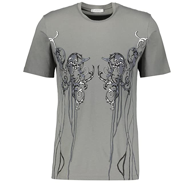 Versace Collection V800471S VJ00035 T-shirt Gris Grey V058 Homme ... d751a33418b