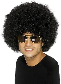 Nero Afro Mega Parrucca Hippie Costume