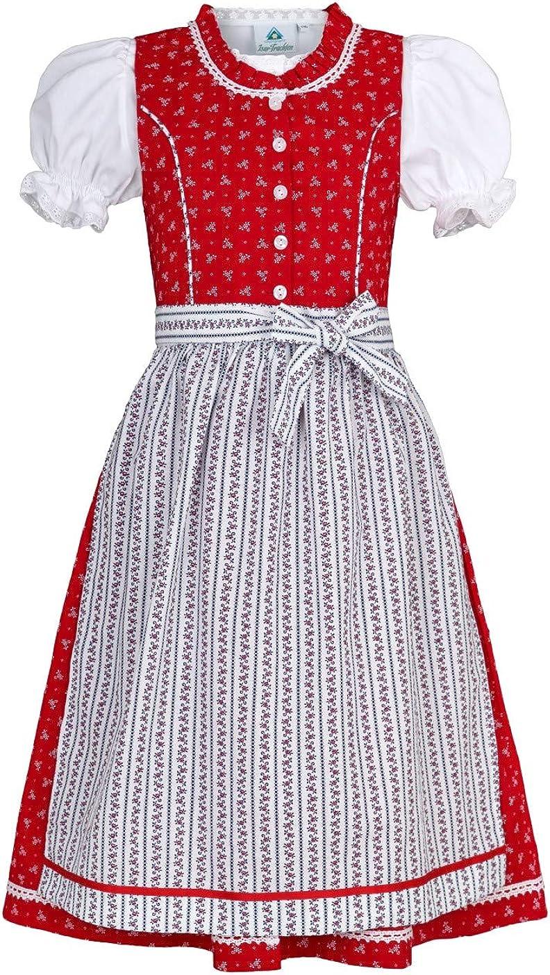 Isar-Trachten Kinderdirndl Ida rot oder pink