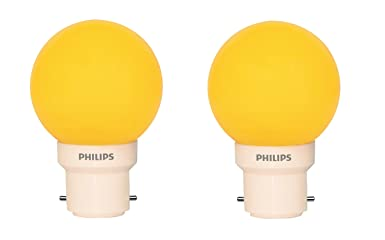 Philips Deco Mini 0.5-Watt B22 Base LED Bulb (Yellow and Pack of 2) LED Bulbs at amazon