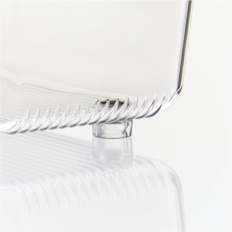 casier rangement plastique compartiment/é pour les tiroirs petit rangement tiroir en plastique transparent iDesign range couvert