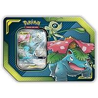 Pokemon Tag Team Tin Celebi & Venusaur-GX- TCG: Sun & Moon Box- 4 Booster Packs + 1 Foil Art Celebi & Venusaur-GX Foil Card
