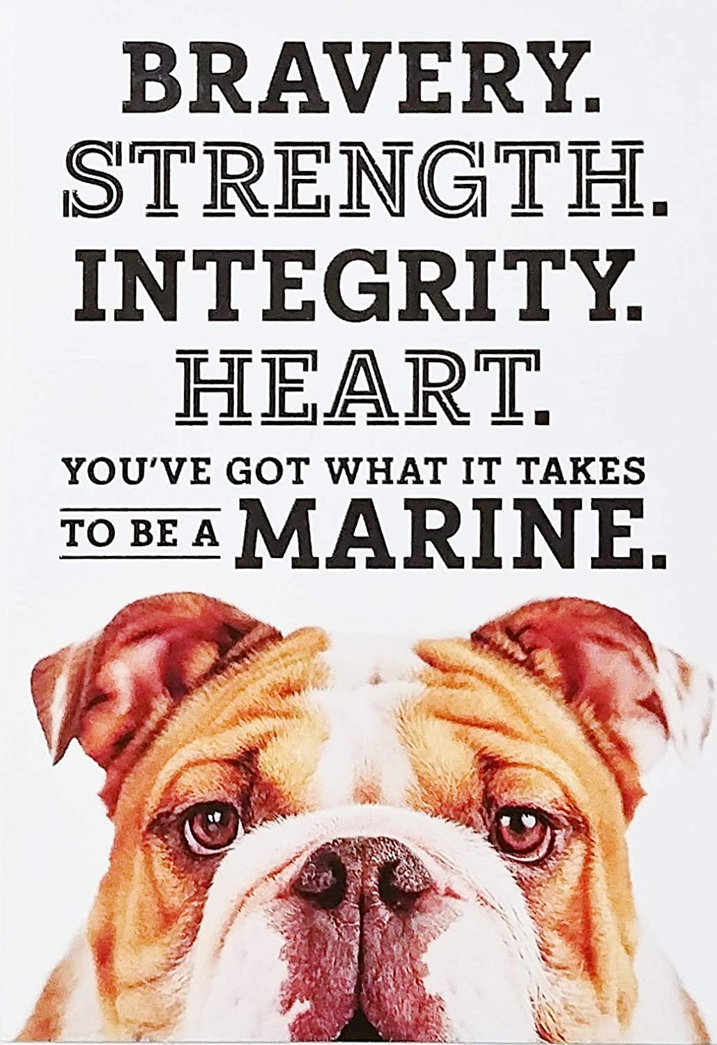 Amazon Com Bravery Strength Integrity Heart You Ve Got What It Takes To Be A Marine Happy Veterans Day Greeting Card Office Products