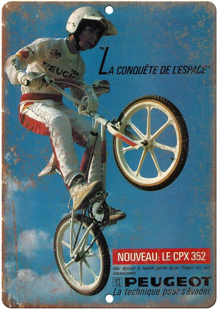 Todghrt Peugeot BMX - Señal de Aluminio para Bicicleta de Carreras ...