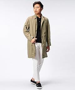 Dicros Balmacaan Coat 51-19-0187-012: Beige