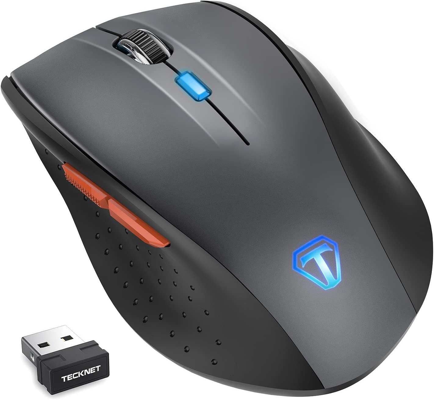 TeckNet Classic 2.4G Programmable Wireless Mouse with USB Nano Receiver,6 Buttons,18 Months Battery Life, 4800 DPI, 6 Adjustment Levels