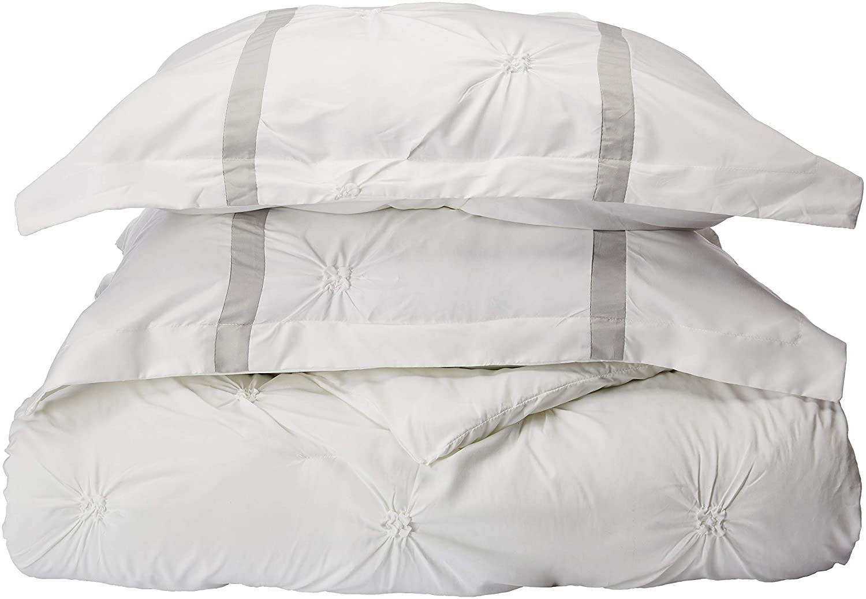 Chic Home Vermont 8-Piece Comforter Set, Queen, White/Silver