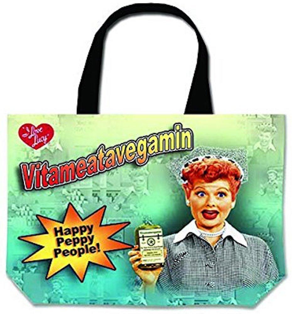 I Love Lucy Large Tote Bag Vitameatavegamin