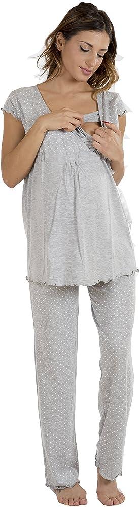 Pijama para Maternidad pre-Post-Parto Estilo Anudado algod/ón el/ástico de Dos v/ías Premamy