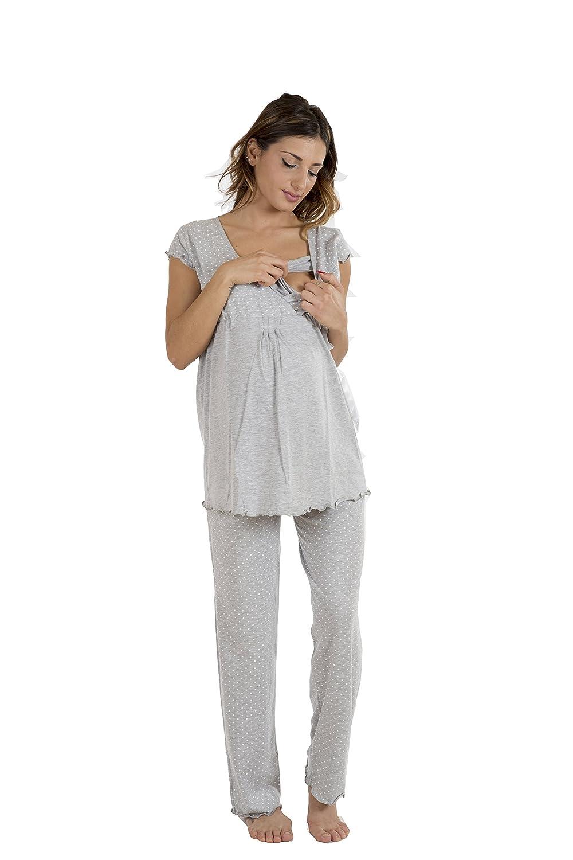 UNibelle Camison Lactancia Camis/ón Embarazada Maternidad Pijama Manga Corta Hospital Mujer Ropa para Dormir Premam/á S-XXL