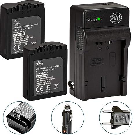 BM Premium Pack of 2 CGA-S006 Batteries and Battery Charger for Panasonic Lumix DMC-FZ7, DMC-FZ8, DMC-FZ18, DMC-FZ28, DMC-FZ30, DMC-FZ35, DMC-FZ38, ...