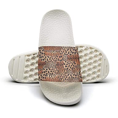 344d060d3 Womens leopard cheetah print Tiger pattern brown Fashion Slippers Sandals  Casual