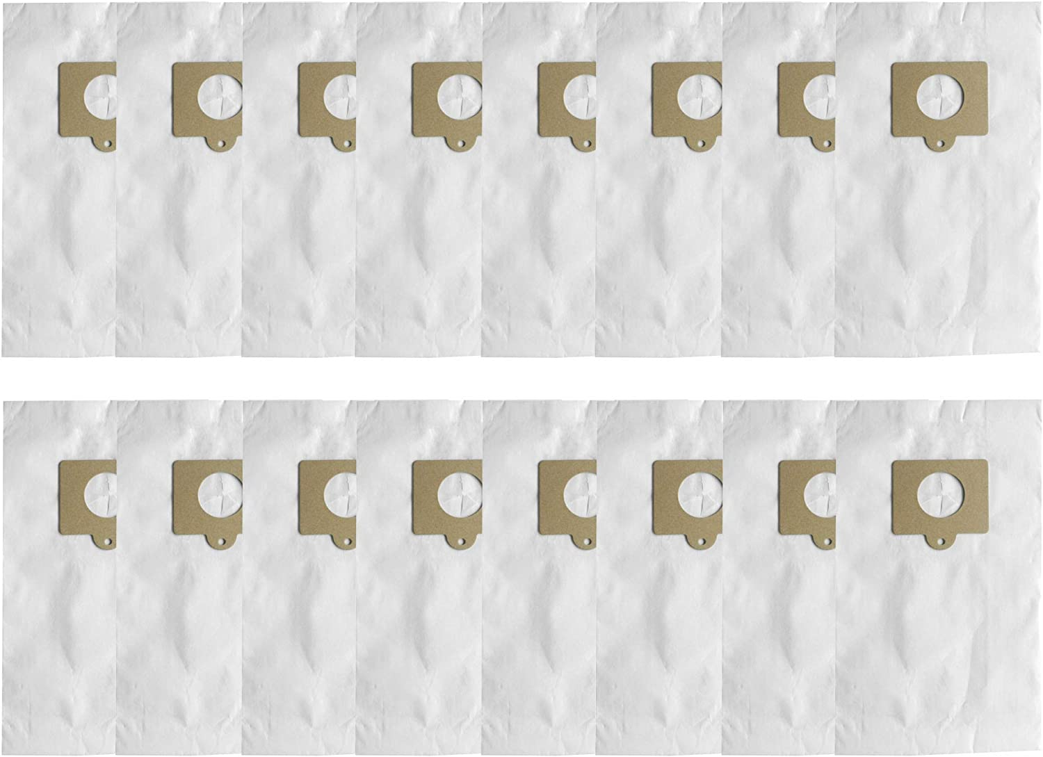 Aliddle 16 Pack Canister Vacuum Bags for Kenmore C/Q, 54321, 50104. Also Fits Panasonic C-5&C-18