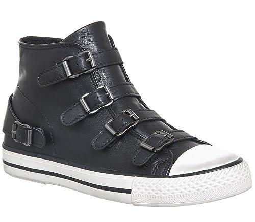 Ash Chaussures Venus Baskets en Cuir Noir Femme  Amazon.fr ... c575689b55e1