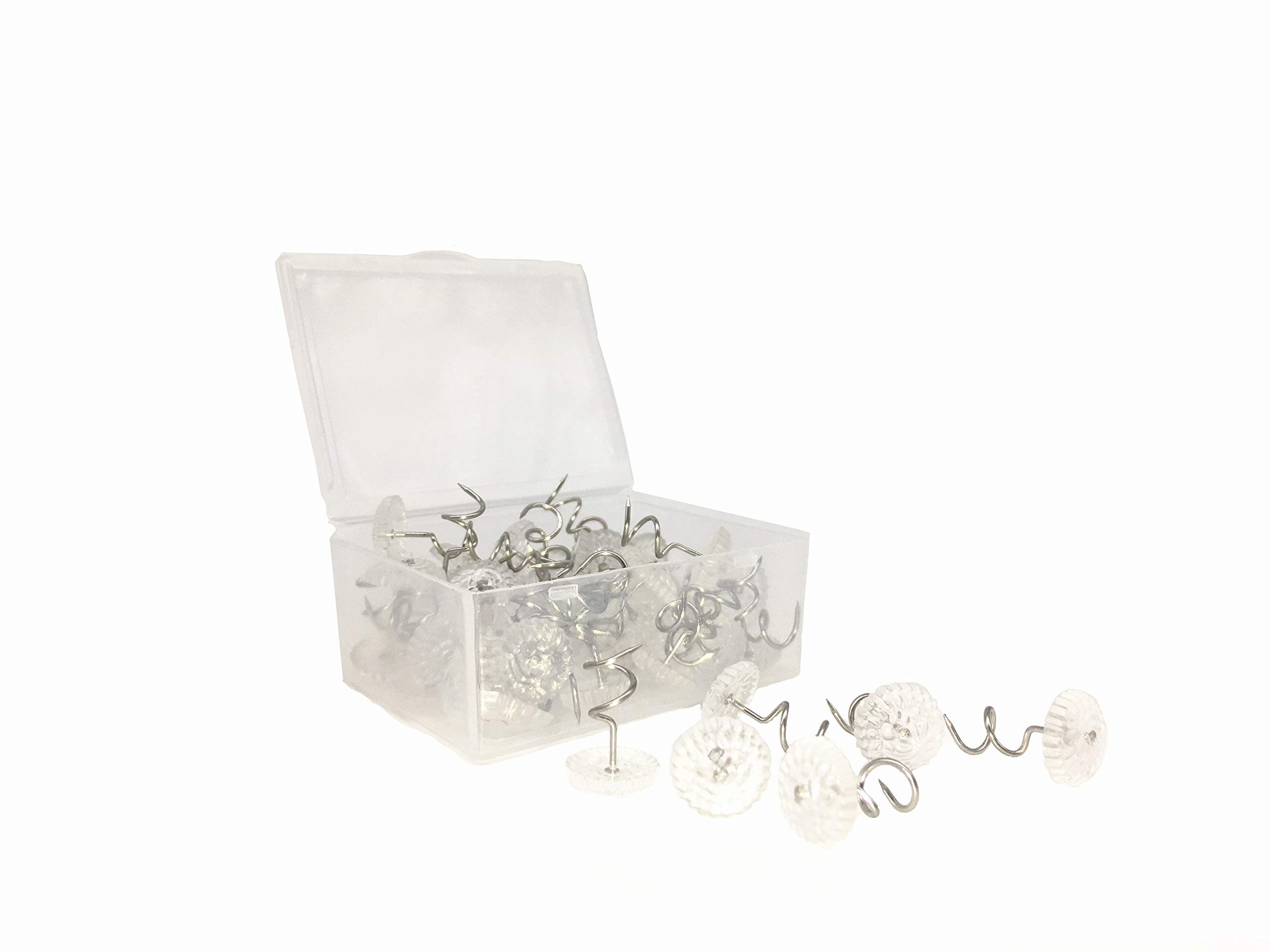 Powerful 50 Pcs Clear Heads Bed Skirt Twist Pins Push Pins Holds Upholstery Tacks Sofa Cushion Slipcovers And Buy Online In Cayman Islands At Cayman Desertcart Com Productid 81281164