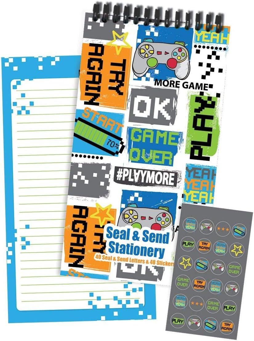 iscream Seal and Send - Bloc de papel (40 hojas) con sellos adhesivos, estilo chico: Amazon.es: Oficina y papelería