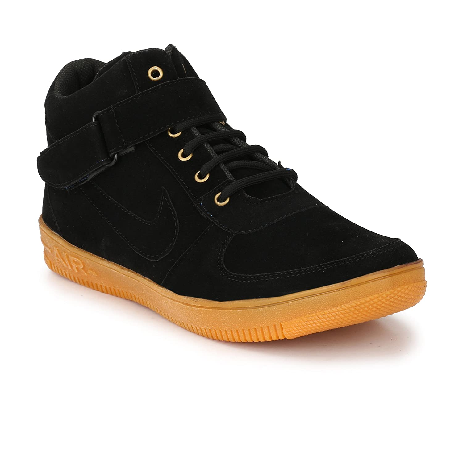 9fedd09a72e4 Dev Shoes Stylish Men s High Ankle Black and Green Casual Shoe  Amazon.in   Shoes   Handbags