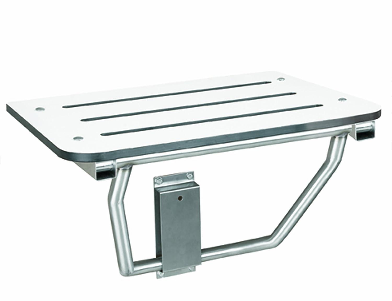 Bradley 9562-000000 White Phenolic Folding Shower Seat, 28-1/2 ...