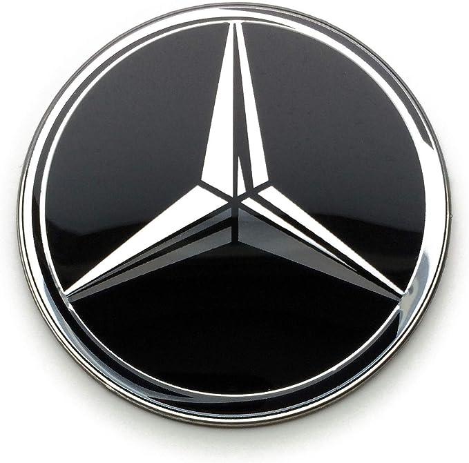 4 Rad Mitte Kappen Aufkleber 60 Mm Mercedesbenz Embleme Gewölbt Logo Selbstklebendes Radkappen Felgenkappen Auto