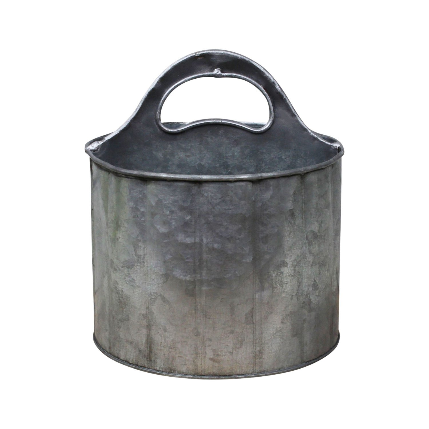 PD Home Round Metal Divided Caddy with Handle | Rustic Farmhouse Style by PD Home