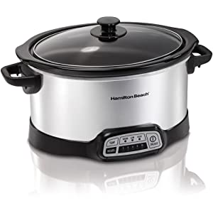 Hamilton Beach Programmable 5 Quart Slow Cooker (33453) Black