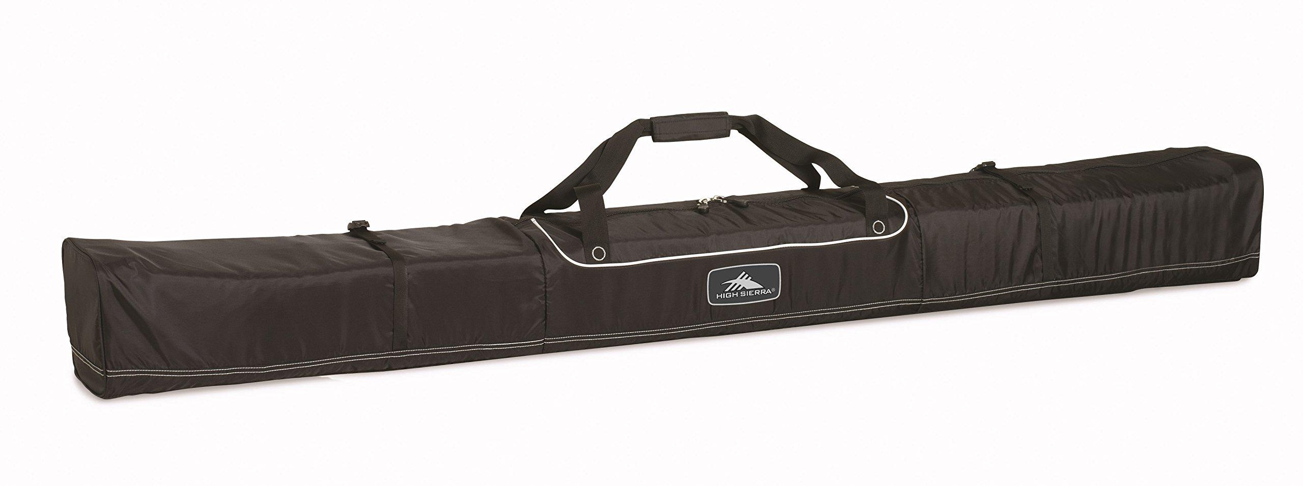 High Sierra Basic Ski Bag -Unpadded Ski Bag, Black - Large 185Cm by High Sierra