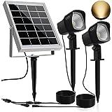 CLY Solar Spotlights LED Solar Landscape Lights 2 in 1 Solar Spot Lights Outdoor IP66 Waterproof Solar Powered Lights…