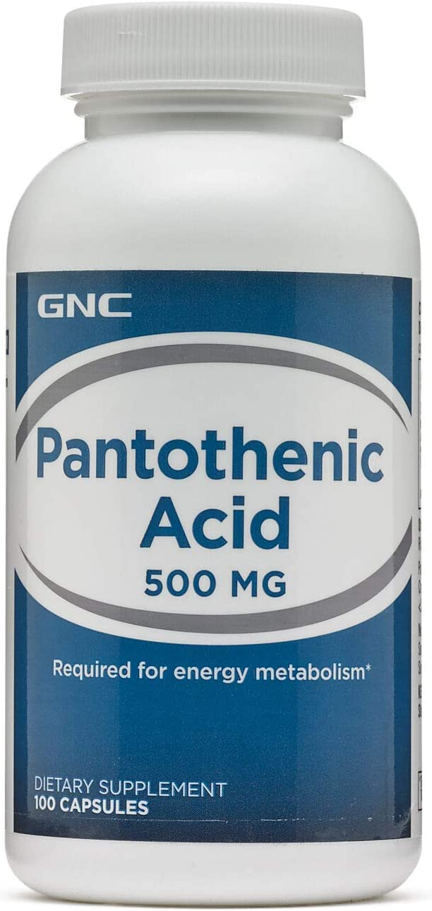 GNC Pantothenic Acid 500mg, 100 Capsules, Required for Energy Metabolism