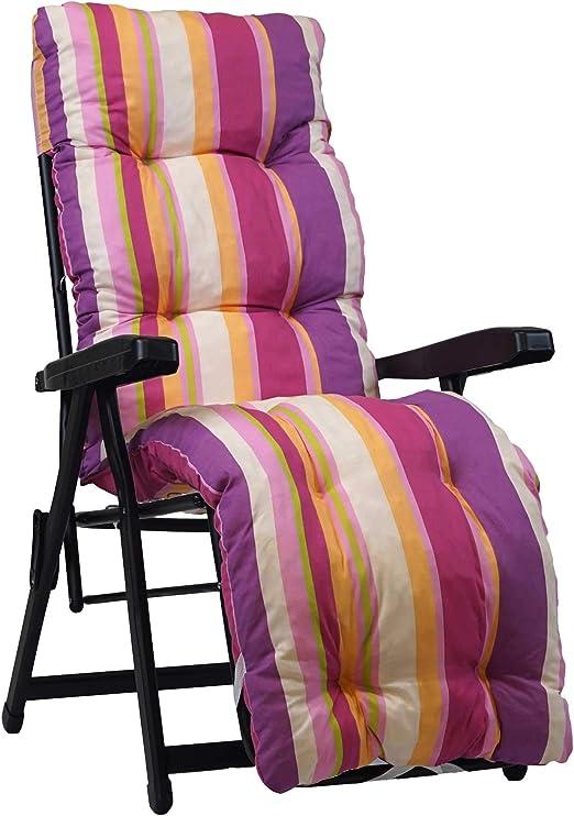 160x45cmx10cm - 100/% Made in Italy Ricambio Cuscino Ideale per Sdraio da Giardino TECNOWEB Cuscino Imbottito per Sdraio con poggiapiedi Disponibili Diversi Colori