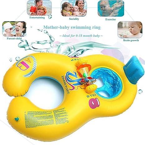 0-18 meses Flotador de natación para bebés, inflable Caja de seguridad suave madre