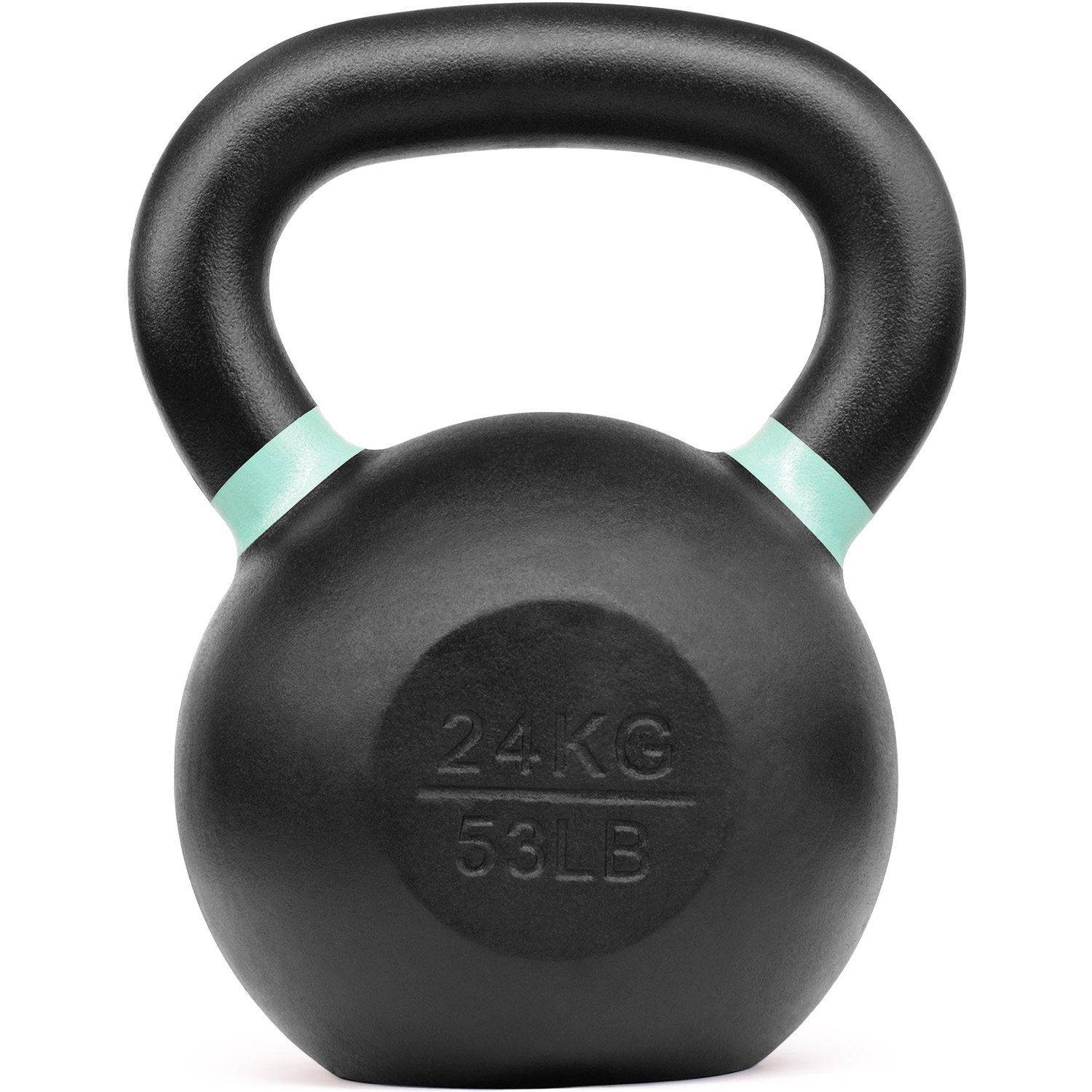 Yes4All Powder Coated Kettlebell Weights with Wide Handles & Flat Bottoms – 24kg/53lbs Cast Iron Kettlebells for Strength, Conditioning & Cross-Training